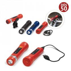 Lampe vélo 3 en 1 Enceinte + batterie personnalisée