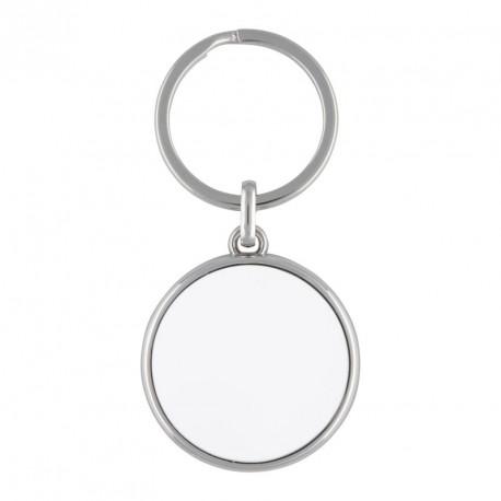 Porte-clés rond en métal  personnalisé