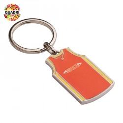 Porte-clés maillot de basket personnalisé en métal