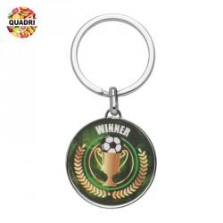 Porte-clés ballon football en métal  personnalisé