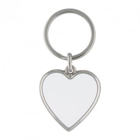 Porte-clés coeur en métal  personnalisé