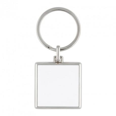 Porte-clés carré en métal  personnalisé