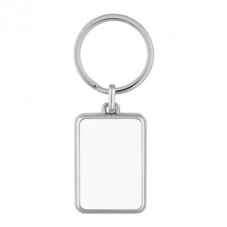 Porte-clés rectangle en métal  personnalisé