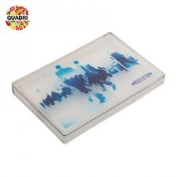 Porte cartes de visite en verre acrylique et plastique personnalisé