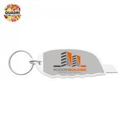 Mini cutter avec anneau en plastique, métal personnalisé