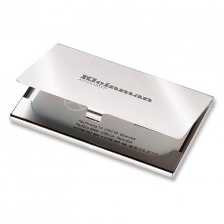 Etui pour cartes de visite en métal mat