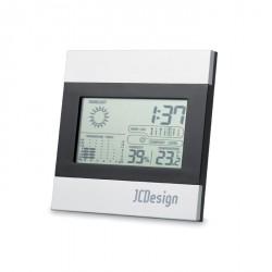 Station météo incluant horloge, température et calendrier