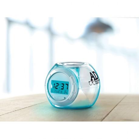 Horloge, réveil avec 7 couleurs de lumière d'ambiance, et six sons différents naturels