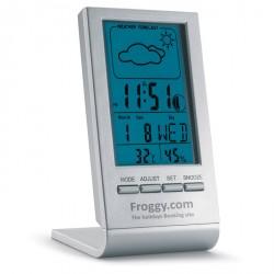 Station météo avec écran LCD bleu