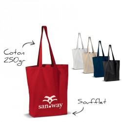 Sac coton personnalise anses longues 250 g/m2