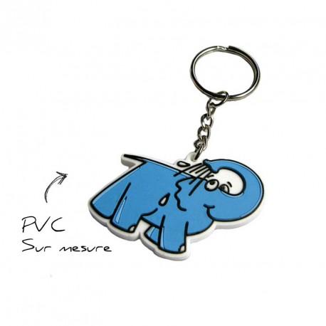 Porte-clés à la forme PVC 2D