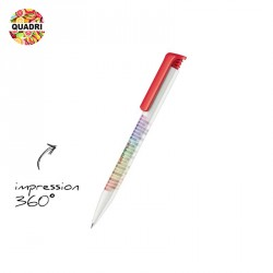 Stylo bille Super Hit Basic Quadri 360°