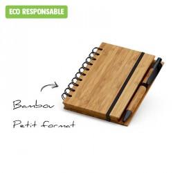 Carnet en bambou personnalisé - format poche
