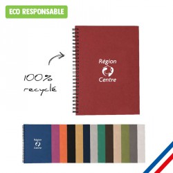 Carnet A5 personnalisé à spirales 100% recyclé - Made in France