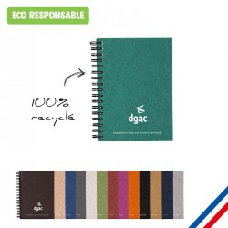 Carnet Made in France A6 à spirales - carton 100% recyclé