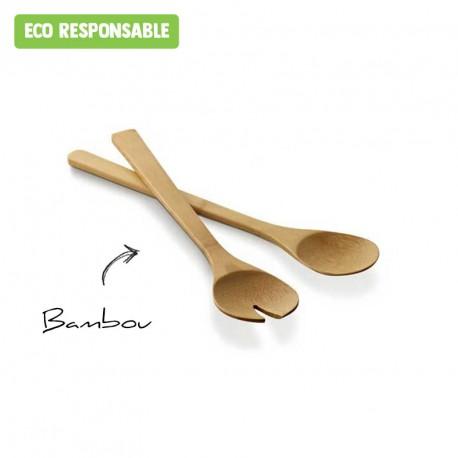 Couverts à salade en bambou personnalisés