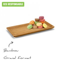 Plateau en bambou personnalisé - grand format