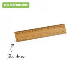 Règle en bambou publicitaire