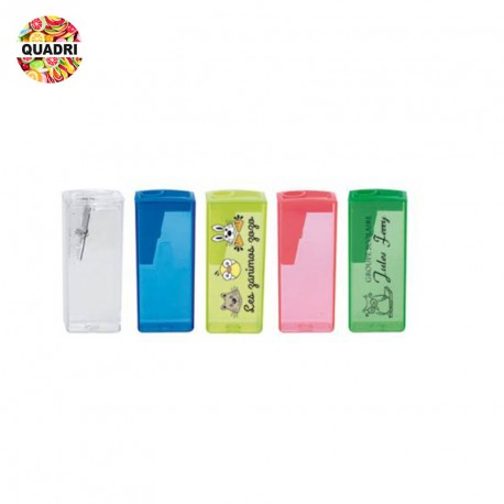 Taille-crayon plastique transparent personnalisé
