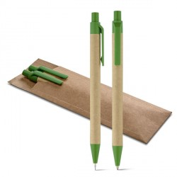 Set stylo/crayon en carton personnalisé