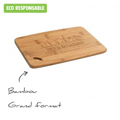 Planche à découper en bambou personnalisée - grand format