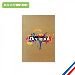 Cahier personnalisé kraft  Made in France