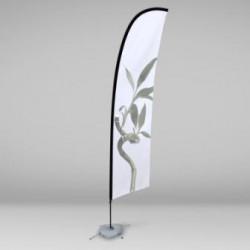 Beach flag / Oriflamme 290cm personnalisé. Pack complet