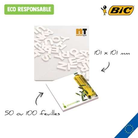 BIC® 101 mm x 101 mm Adhesive Notepads Ecolutions®