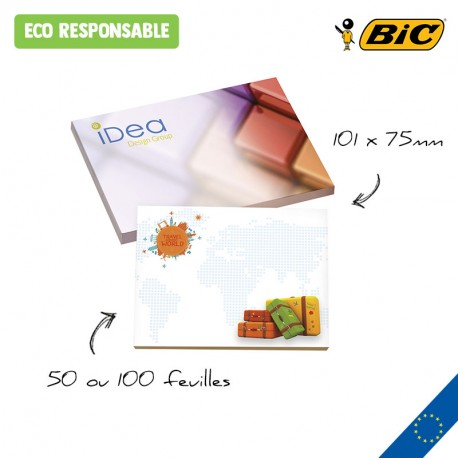 BIC® 101 mm x 75 mm Adhesive Notepads Ecolutions®
