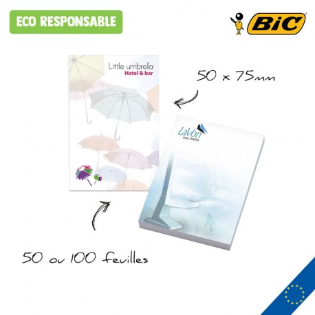 BIC® 50 mm x 75 mm Adhesive Notepads Ecolutions®