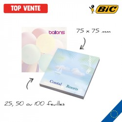 BIC® Sticky Notes personnalisés - 75 x 75 mm