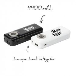 Batterie de secour avec torche 2600 mAh