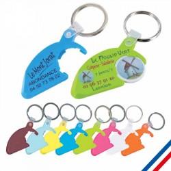 Porte-clés plastique 2 en 1 personnalisé
