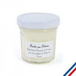"""Bougie parfumée """"Tarte au citron"""" publicitaire"""