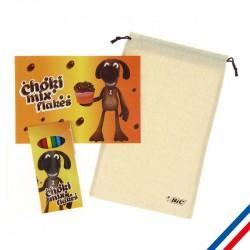 Set de crayons de couleur avec cahier de coloriage personnalisé