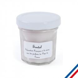 """Bougie parfumée """"Santal"""" personnalisée"""