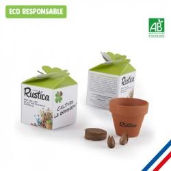 Petite boîte personnalisée avec kit de plantation