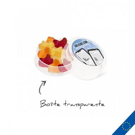 Mini boite personnalisée de gommes de fruits