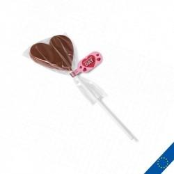 Sucette en chocolat personnalisée