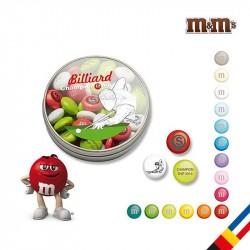Bonbon My M&M's personnalisé en boite transparente 40g