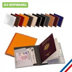 Etui à passeport en cuir recyclé personnalisé