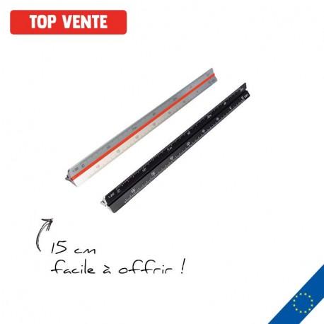 Règle Kutch publicitaire 15 cm noire ou alu