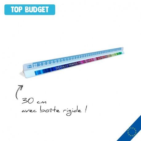 Règle Kutch plastique 30cm impression quadri avec boite