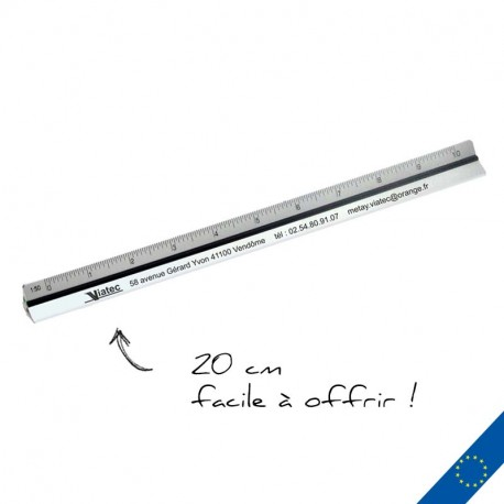 Règle kutch personnalisée aluminium 20 cm