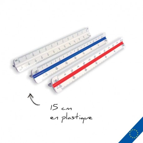 Règle cutch 15cm plastique personnalisée