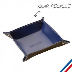 Vide poche en cuir recyclé personnalisé