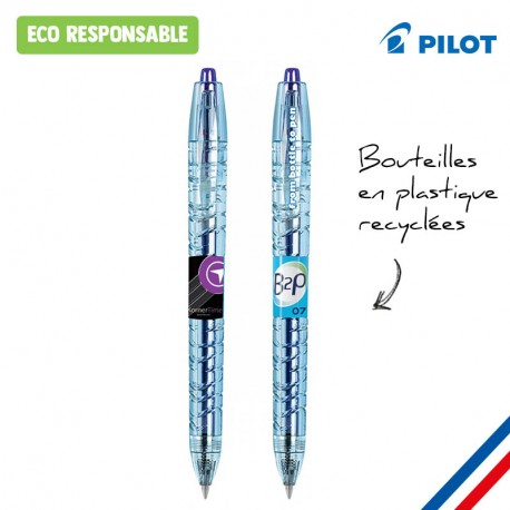 Stylo publicitaire Pilot B2P GEL bouteille recyclée - Made in France