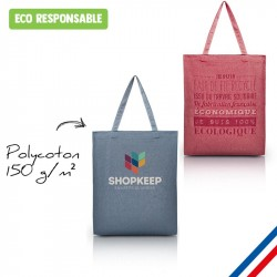 Sac personnalisé made in France. Tote bag coton naturel publicitaire