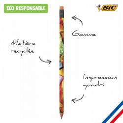 Crayon papier BIC gomme impression photo