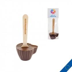 Cuillère de chocolat publicitaire